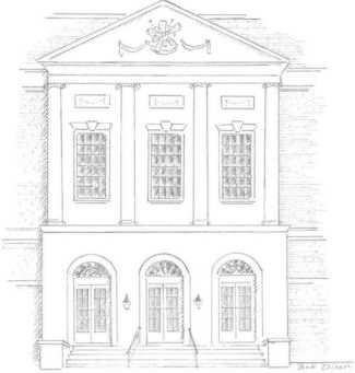 Muncipal Auditorium Pencil Drawing